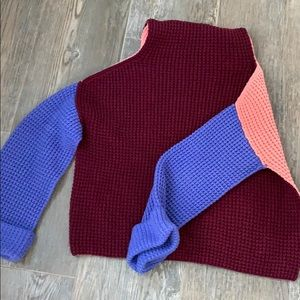 Free people color block sweater size small